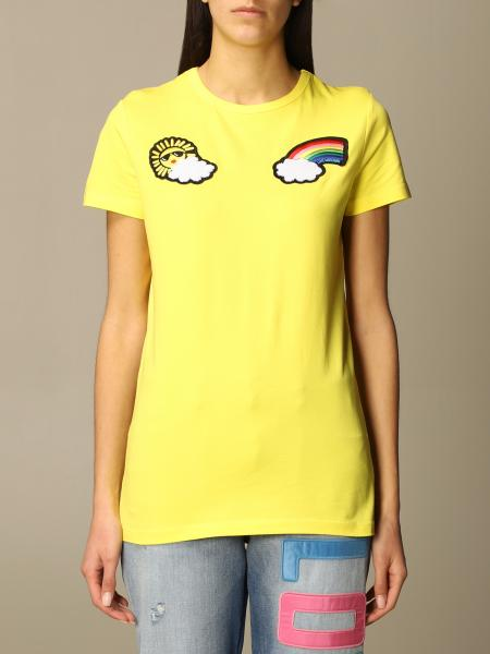 Love Moschino cotton T-shirt with patches