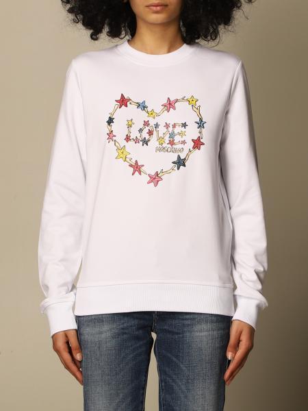 Felpa a girocollo Love Moschino con logo