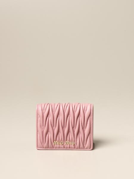 Miu Miu: Miu Miu wallet in matelassé leather