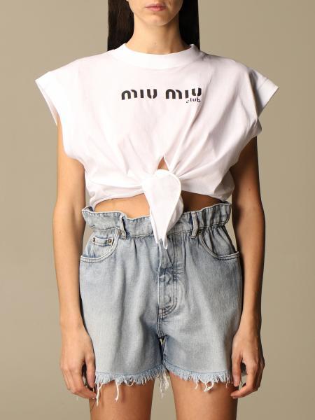 Miu Miu femme: T-shirt femme Miu Miu