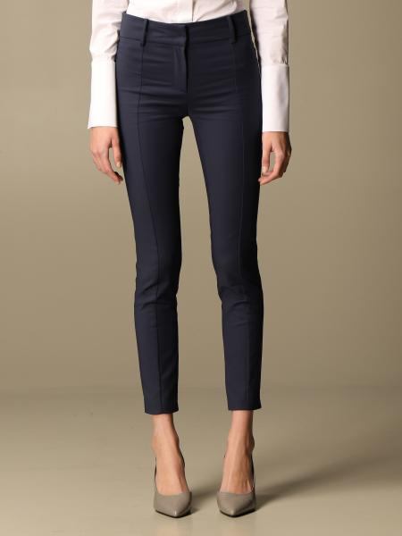 Patrizia Pepe trousers in two-way stretch cotton blend