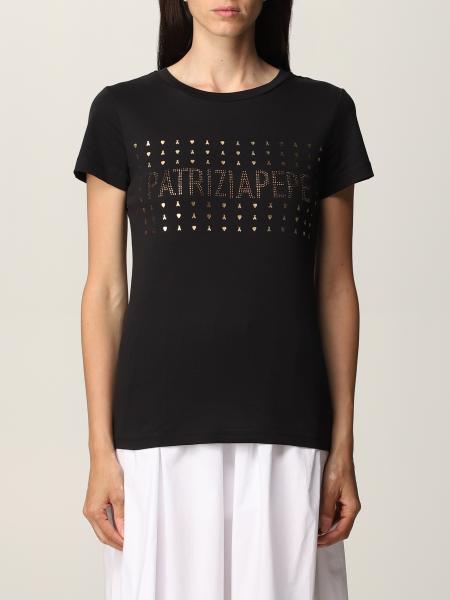 Patrizia Pepe: Patrizia Pepe T-shirt with rhinestone logo