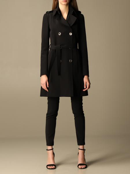 Patrizia Pepe women: Patrizia Pepe double-breasted trench coat in technical fabric