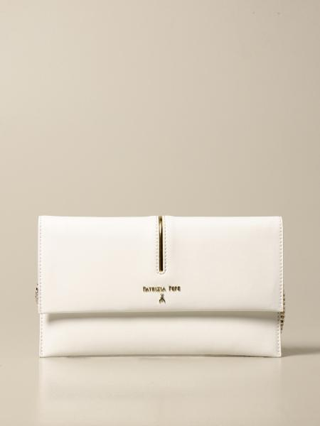 Patrizia Pepe envelope bag in leather with lettering logo