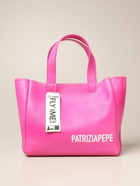 Patrizia Pepe shopping bag in textured leather