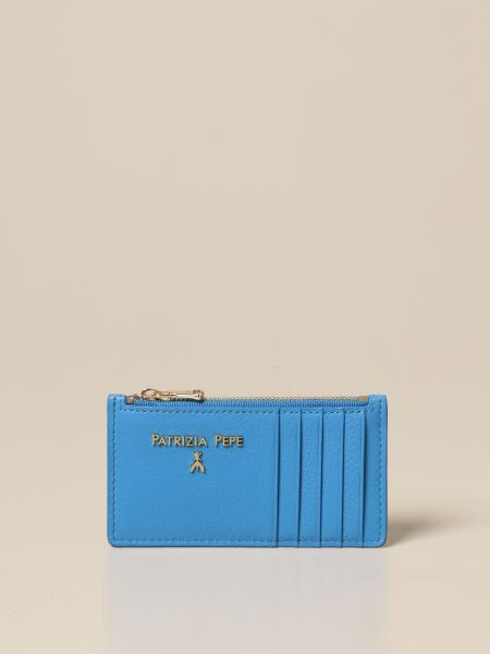 Patrizia Pepe women: Patrizia Pepe credit card holder in leather with zip