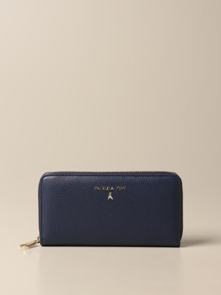 Patrizia Pepe women: Patrizia Pepe continental wallet in leather with logo