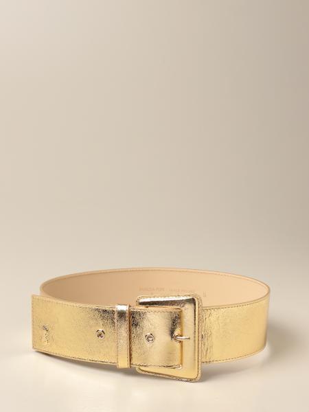 Patrizia Pepe women: Patrizia Pepe leather belt with Fly logo