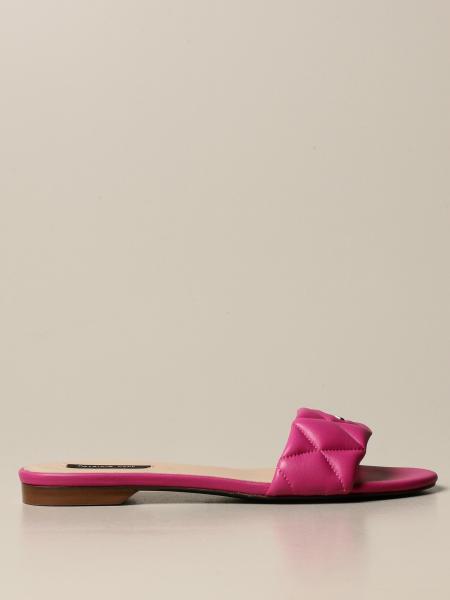 Sandalo a fascia Patrizia Pepe in pelle chevron