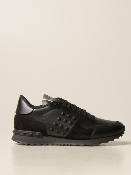 Valentino Garavani Rockstud Runner trainers in leather and suede
