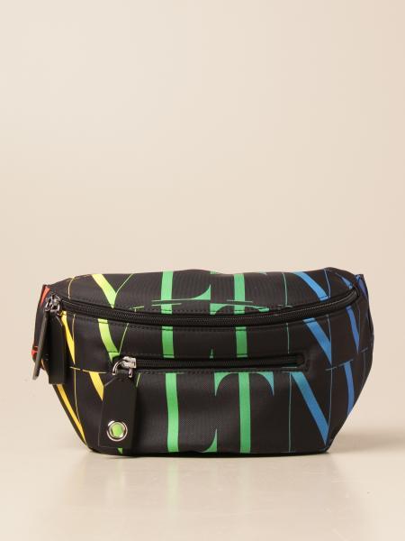 Valentino Garavani belt bag in canvas with all-over multicolor VLTN logo