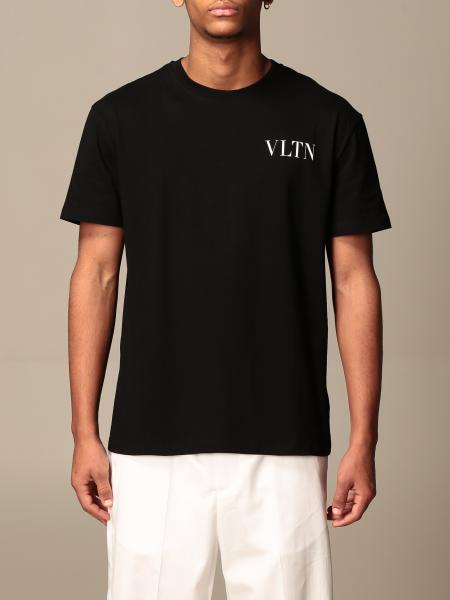 Valentino: Valentino cotton T-shirt with VLTN logo