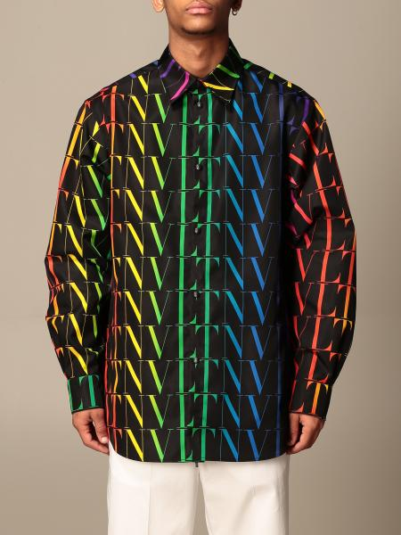 Valentino: Camicia Valentino con logo VLTN multicolor all over