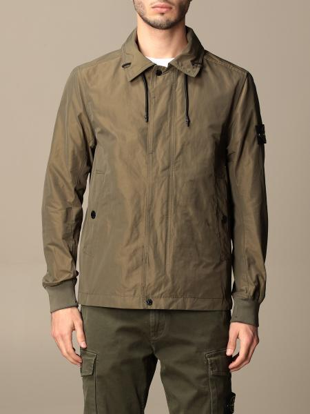 Stone Island jacket in opaque nylon polyester rep