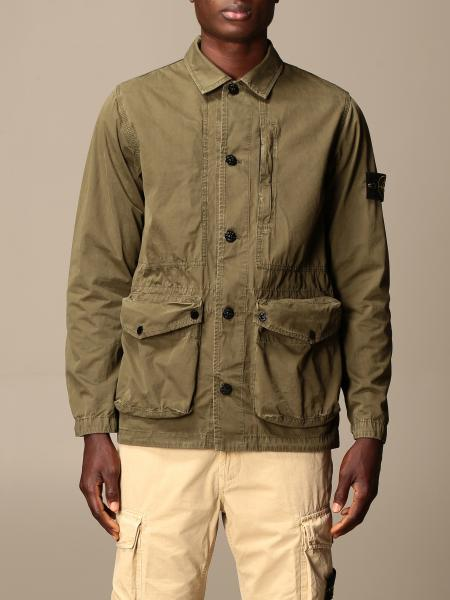 Stone Island saharan jacket in frosted canvas