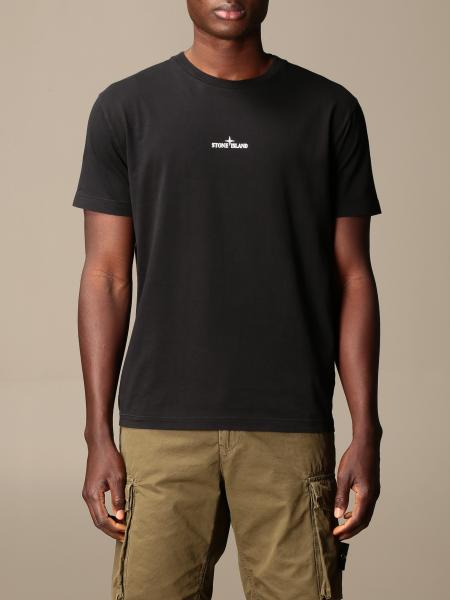 Stone Island cotton T-shirt with back print