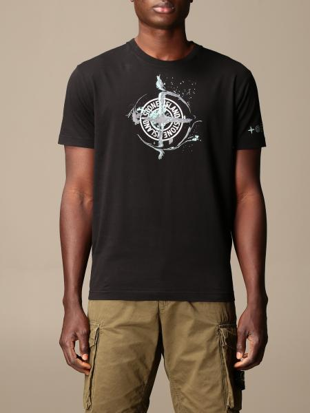 Stone Island cotton t-shirt with logo print