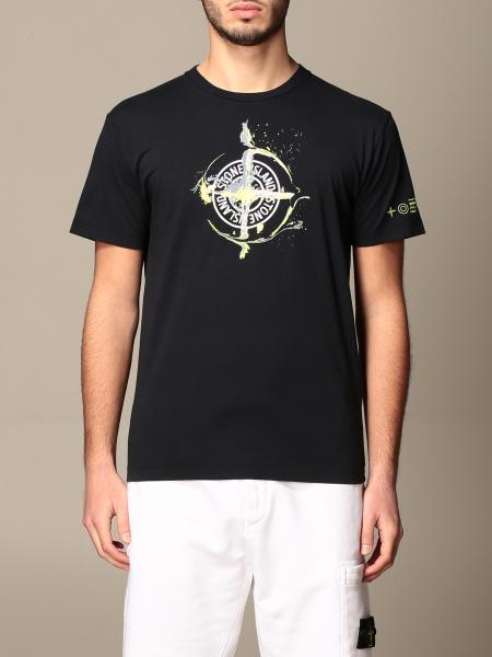 T-shirt Stone Island in cotone con stampa logo