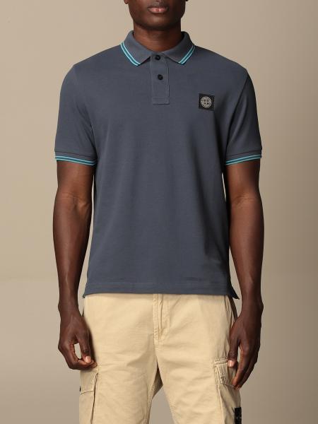 Stone Island polo shirt in stretch pique cotton