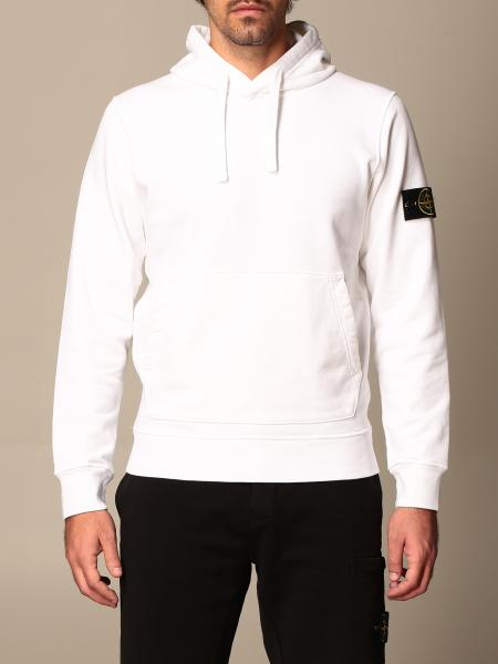 Stone Island hooded sweatshirt in cotton with logo