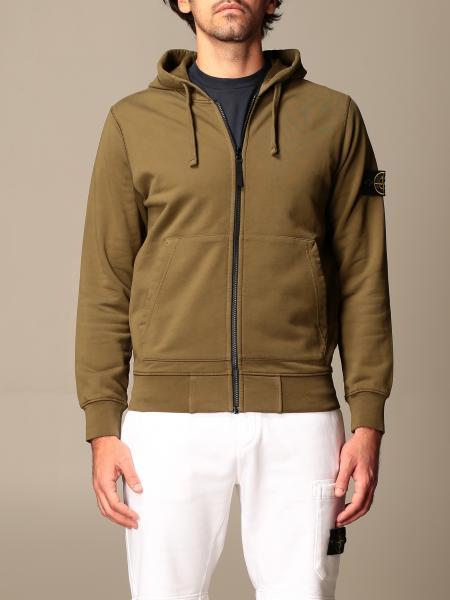 Stone Island hooded sweatshirt in stretch cotton