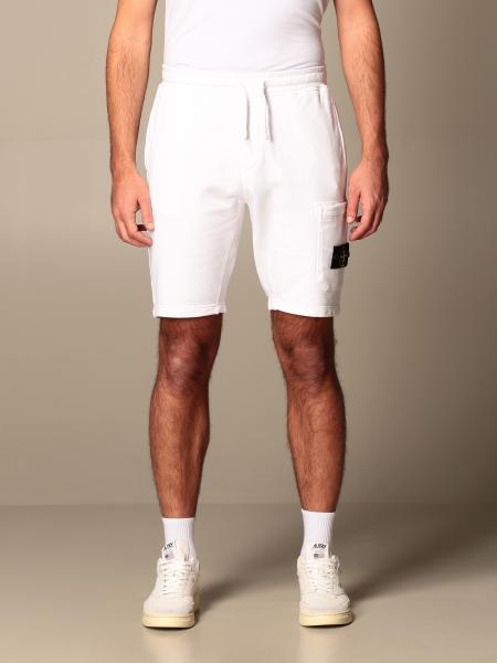 Stone Island jogging bermuda shorts with logo