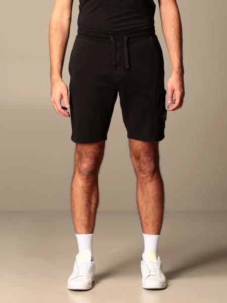 Stone Island jogging bermuda shorts with logo