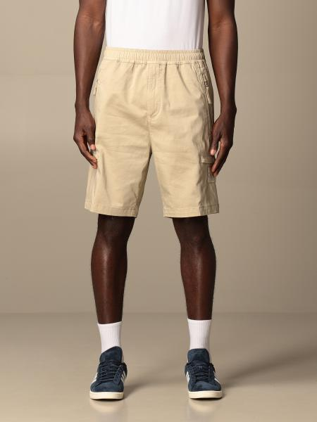Ghost Stone Island Bermuda shorts in cotton satin and stretch wool