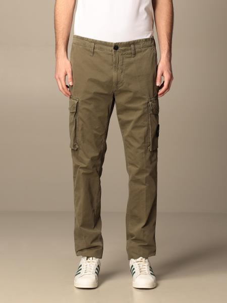 Stone Island Kargo trousers in frosted canvas gabardine