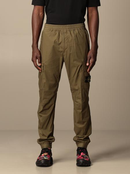 Stone Island Kargo trousers in stretch cotton canvas