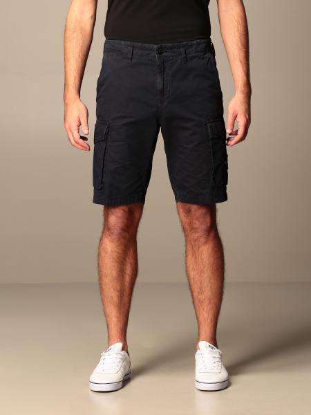 Stone Island Kargo Bermuda shorts in frosted canvas gabardine