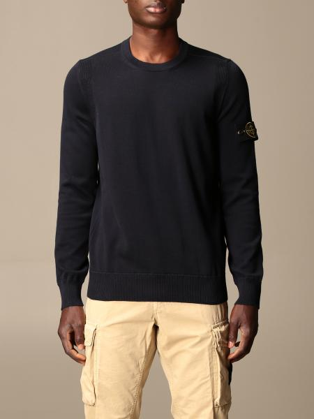 Stone Island crewneck sweater in soft cotton