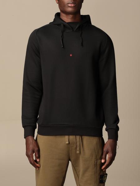 Marina Stone Island hooded sweatshirt in cotton with logo