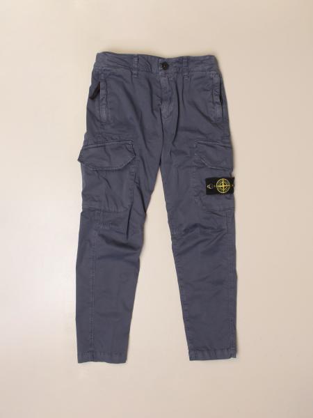 Stone Island Junior kargo trousers with logo