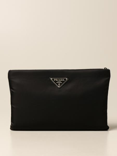 Prada nylon bag with triangular logo