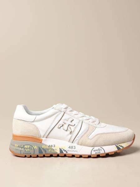 Premiata men: Lander Premiata sneakers in suede and nylon