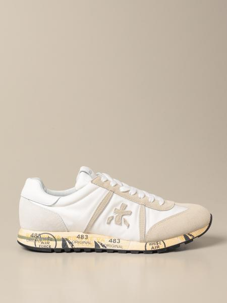 Lucy Premiata sneakers in leather and nylon suede