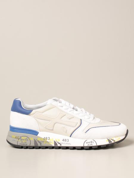 Premiata men: Mick Premiata sneakers in suede leather and nylon