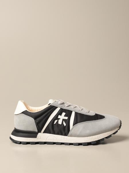 John low sneakers Premiata in suede and nylon