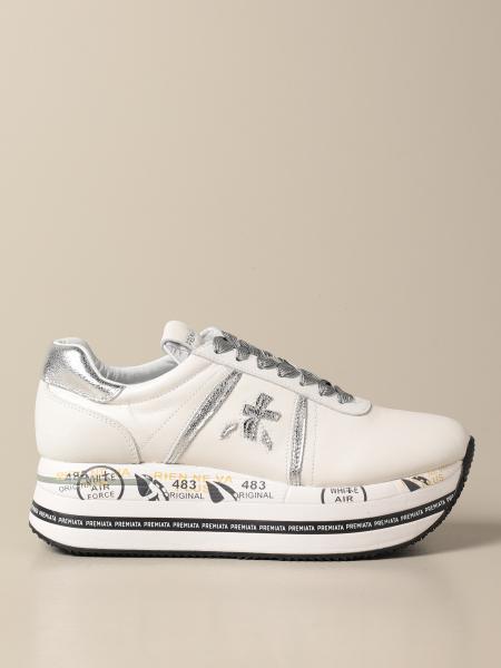 Premiata donna: Sneakers platform Beth Premiata in pelle