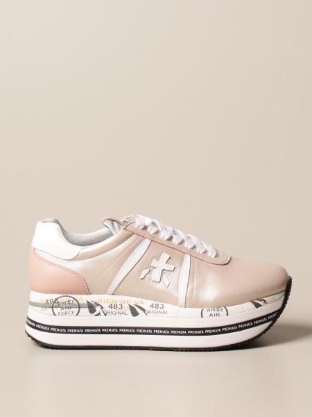 Premiata donna: Sneakers Beth Premiata in pelle perlata con logo
