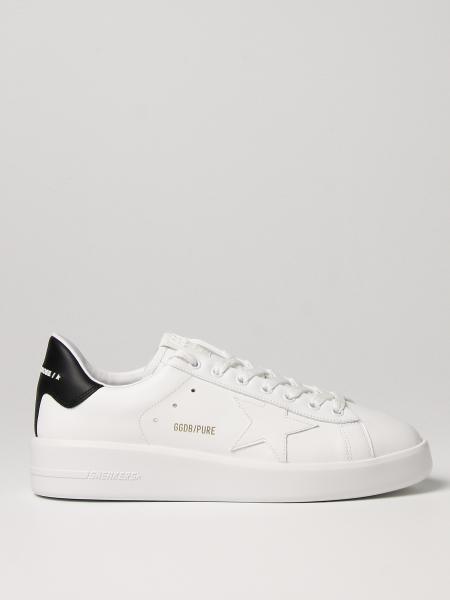 Sneakers Pure Golden Goose in pelle liscia