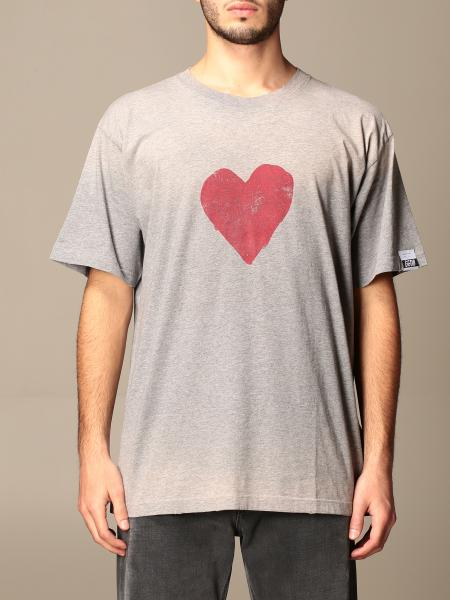 Golden Goose men: Golden Goose cotton t-shirt with logo and heart print