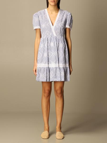 Twinset women: Twin-set short dress in Sangallo