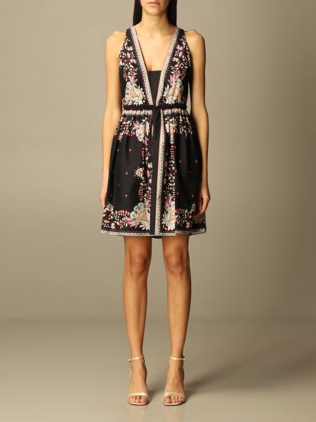 Twinset women: Twin-set short dress with foulard print