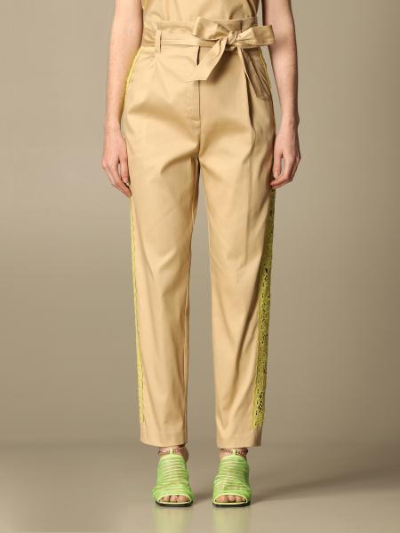 Twin-Set donna: Pantalone Twin-set in cotone