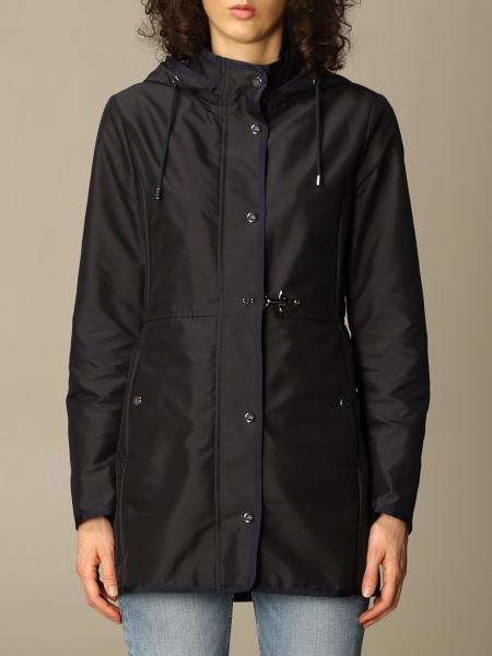 Fay women: Virginia Fay coat in poplin with hood