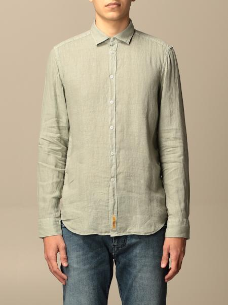 Bd Baggies men: Brooklyn BD Baggies shirt in garment dyed linen