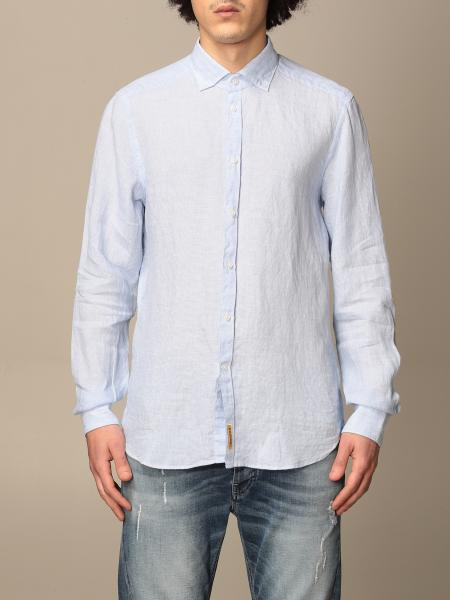 Bd Baggies men: Brooklyn BD Baggies shirt in micro-striped linen