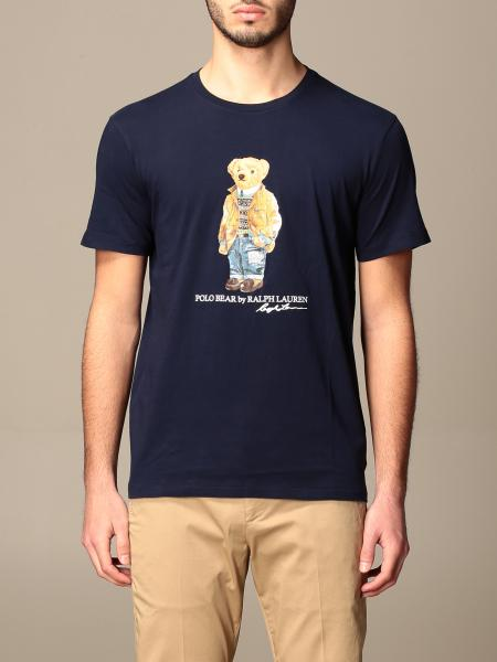 T-shirt Polo Ralph Lauren in cotone con stampa orso